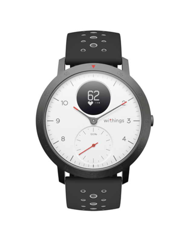 Withings Steel HR Sport (40mm) OLED, 39 g, White, Bluetooth, Built-in pedometer, Heart rate monitor, GPS (satellite), Waterproof