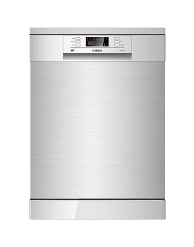 Goddess Dishwasher DFE1267DX10 Free standing, Width 60 cm, Number of place settings 12, Number of programs 6, A +++, Display, AquaStop function, Inox